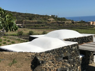 The Damusso with semi elevated roofs; so distinctly Pantelleria