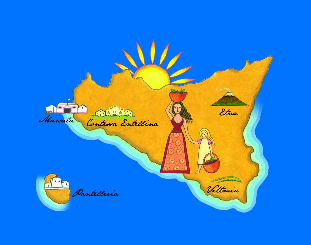 Cartina Sicilia Menfi